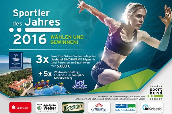 Sächsische Sportler des Jahres 2016 gesucht!