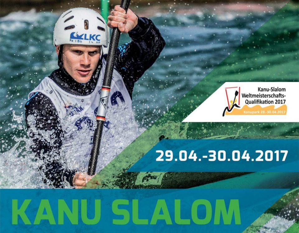 Plakat WM-Qualifikation im Kanupark Markkleberg 2017