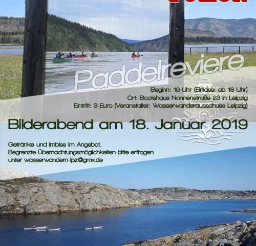 "WWA-Bilderabend ""Paddelreviere"" am 18. Januar 2019"