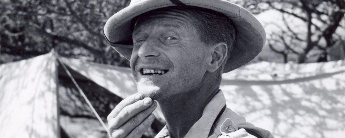 Herbert Rittlinger am Tanasee, Afrika