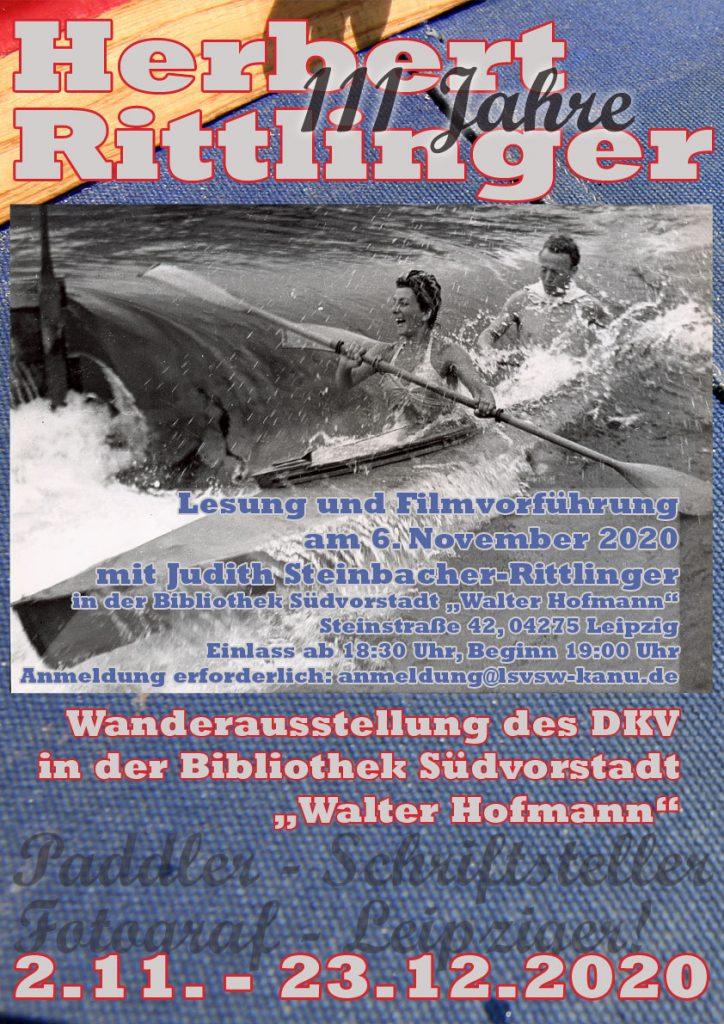 Plakat zur Veranstaltungsreihe 111 Jahre Herbert Rittlinger