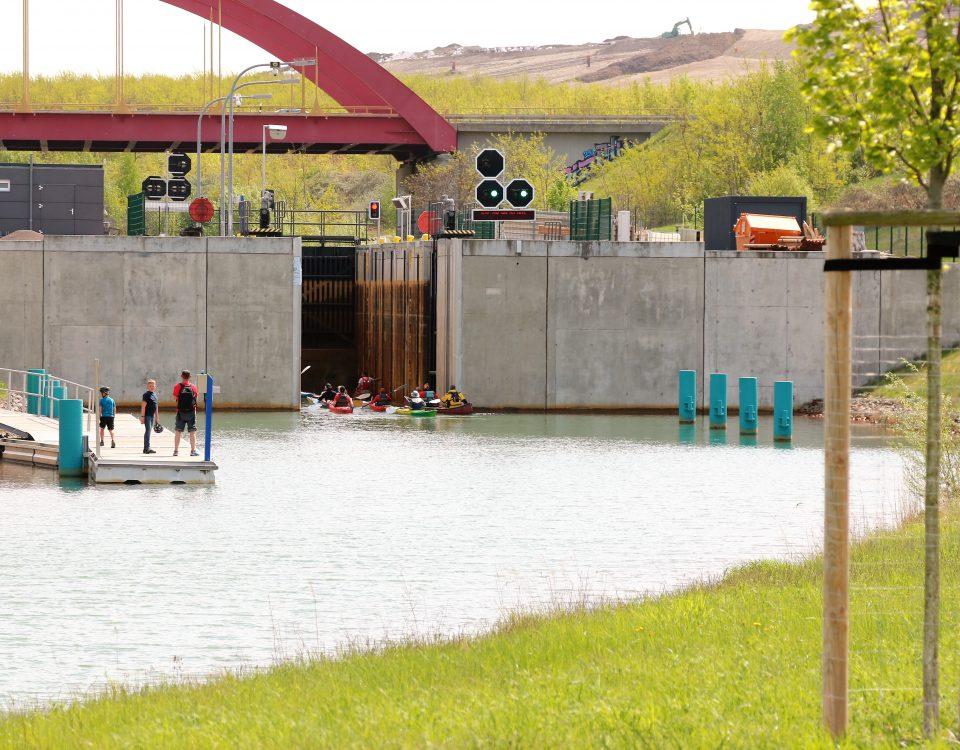 Die Kanuparkschleuse im Leipziger Neuseenland